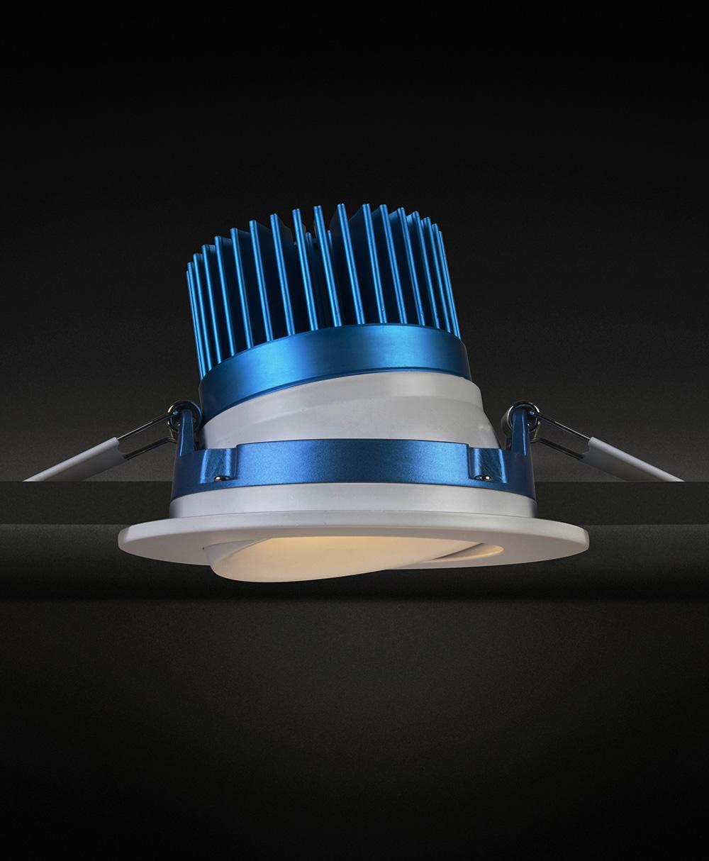 3 5 Quot Luna Led Round Gimbal Recessed Pot Light Ra35 12g